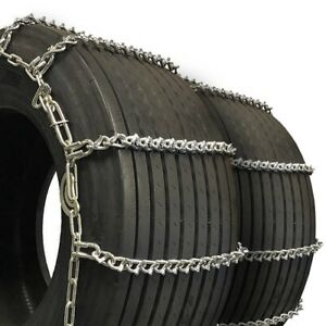 Titan Truck Tire Chains V Bar Cam Type On Road Ice Snow 7mm 33x13 50 16
