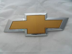 New Gold Front Grille Bowtie Emblem 14 18 Chevrolet Silverado Trucks Free Ship
