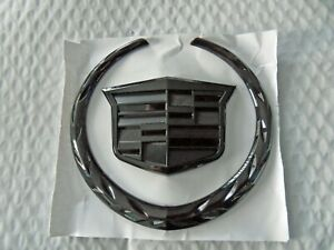 New Fits Cadillac Escalade Cts Sts Dts Srx Black Front Grille Emblem Free Ship