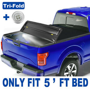 Tri fold 5ft Bed Soft Truck Tonneau Cover For Nissan Frontier Suzuki Equator