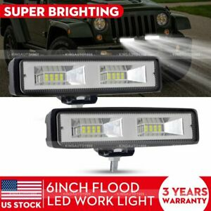 2x 6 Inch 48w Led Work Light Bar Flood Offroad Atv Fog Truck Lamp 4wd 12v 6