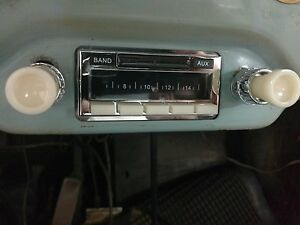 New Vintage Look Becker Style Porsche 356 Am Fm Ipod Car Radio With Ivory Knobs