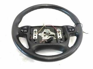2000 Chevy Camaro Black Leather Steering Wheel 00 worn See Photos