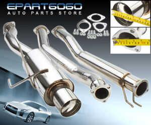 For 01 05 Honda Civic Ex 1 7l 2 5 To 3 Stainless Catback Exhaust W 4 5 Tip