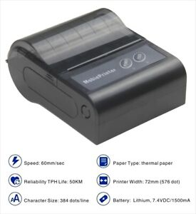 Gsan Pos Bluetooth Wireless Thermal Receipt Printer 80mm 3 1 8 Portable Mobile