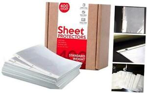 Huntz Standard Weight Clear Sheet Protectors Letter Size 400 Pack