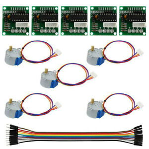 5pcs Stepper Motor With Driver Board Cable For Arduino Reduction Step Motor Gear