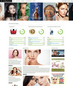 Skin Care Beauty Review Affiliate Website For Sale Mobile Responsive Design