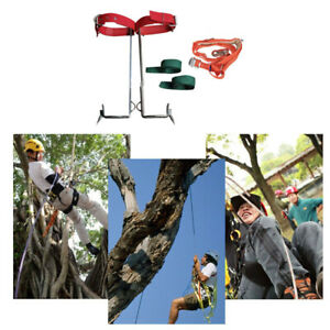 Tree pole Climbing Spike Safety Belt Straps Non slip Rope Rescue Adjustable Tool