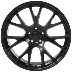 22 Inch Aluminum Wheel For 2006 2020 Dodge Charger Hellcat Satin Black Rim 5 Lug