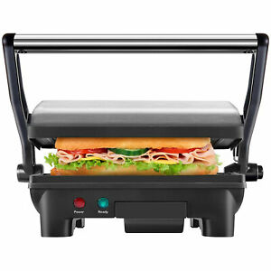 Chefman Electric Panini Press Grill And Gourmet Sandwich Maker Stainless Steel
