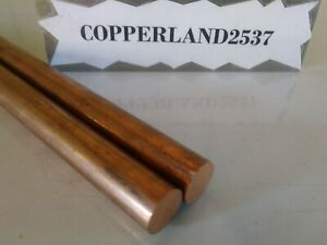 2 Pc 110 Copper 1 2 Rod Round Stock 12 Long Lathe Machinist New Solid Bar 5