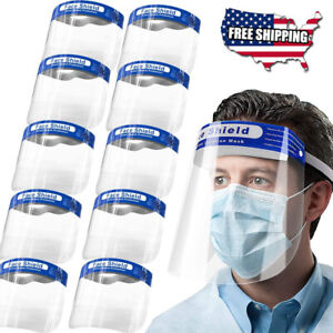 Protection Safety Full Face Shield Reusable Washable Cover Mask Anti splash