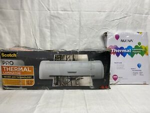Scotch Pro Thermal Laminator Up To 12 3 Width W bonus 200 Pouches damaged Box
