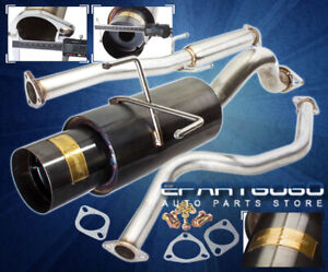 For 92 95 Civic Eg Hatch Jdm 3 Stainless Piping Catback Exhaust System 4 5 Tip
