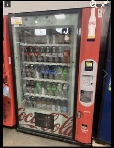 Dixie Narco Bevmax 4 5800 4 Glass Front Soda Drink Vending Machine