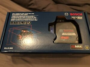 Bosch Gll3 300 360 Degree 200ft Three Plane Leveling Line Laser