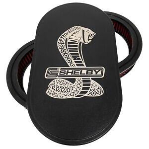 Ford Shelby Cobra Logo 15 Oval Air Cleaner Kit Black Ansen Usa