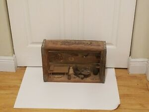 Vintage Artist Made Room Scene In Coca Cola Wooden Crate 1969 Los Angeles Rare!