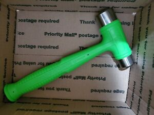 Snap On New Hssd32 Dual Face Drilling Dead Blow 32 Oz Soft Grip Handle Hammer