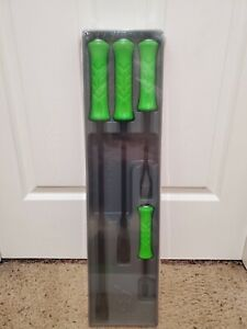 Snap On Green 4pc Striking Pry Bar Set Spbs704ag 8 12 18 24 Inches New Sealed