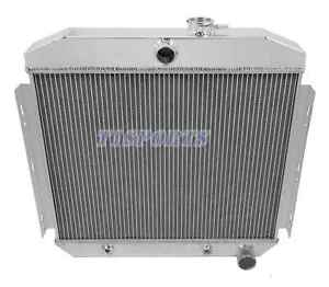 For 1955 1956 1957 Chevy Bel Air Del Ray 150 210 L6 6cyl 3 Row Aluminum Radiator