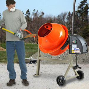 Portable Electric 2 1 5cuft Concrete Cement Mixer Barrow Machine Mixing Mortar