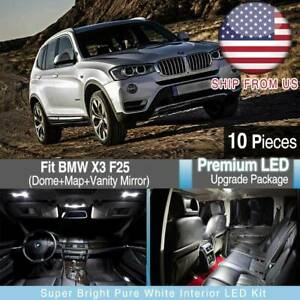 White Led Upgrade Package For Bmw X3 F25 Atmosphere Light Interior Light Styling