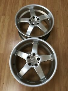 Hamann Hm2 19 X 8 5 Et13 5x120 Silver Genuine Made In Italy 2 Two Wheels Clean