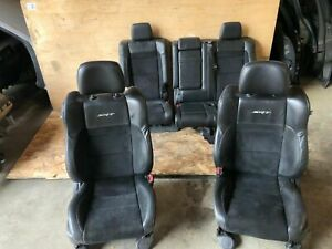 Jeep Grand Cherokee Srt 2011 2017 Oem Front Rear Leather Suede Seat Seats 72k