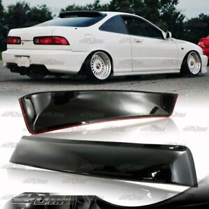 For 94 01 Acura Integra 2dr Ls Gs Gs R Black Abs Plastic Rear Roof Spoiler Wing