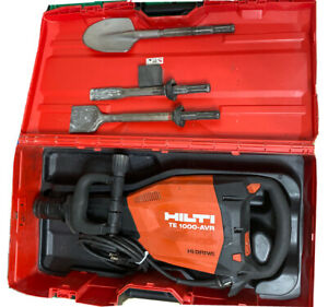 Hilti Te1000 avr Demolition Hammer Package W 3bits Combo