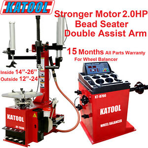 Katool New Model Combo Tire Changer Wheel Balancer Garage Equipment Tire Service