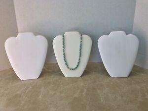 Jewelry Display Stands White 8 1 2 Inches For A Necklace Lot Of 3