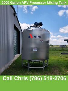 2000 Gallon Apv Steam Processing Stainless Steel Sweep Mixing Tank