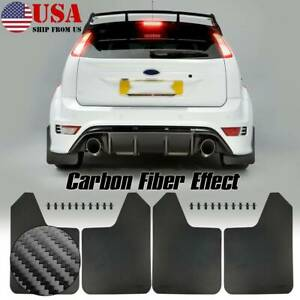 Wide Body Universal Splash Guards For Car Pickup Suv Mudflaps Mud Flaps W Clips