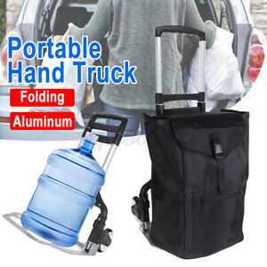 Aluminum Folding Heavy duty Cart Portable Hand Trunk Travel Shopping Trolley Us