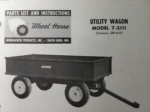 Wheel Horse Tractor Utility Wagon Dump Trailer Owner Parts 2 Manual S