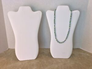 Jewelry Display Stands White 14 Inches For A Necklace Lot Of 2