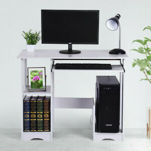 Wood Modern Computer Desk Pc Workstation Study Table Home Office Writing Table