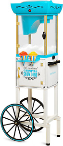 Nostalgia 48 inch Tall Snow Cone Cart Removable Top Snow Cone Maker Machine Best