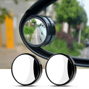 Car Rearview Blind Spot Side Rear View Mirror Adjustable 360 Convex Wide Angle