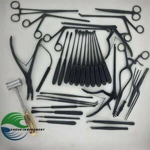 Laminectomy Set Of 35 Pieces Surgical Orthopedics Instruments New Full Black
