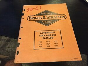 53 5455 56 57 58 59 60 61 Briggs Stratton Auto Lock And Key Catalog 57 Pages