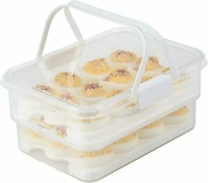 Snap Lock by Progressive Collapsible Egg Carrier One Size White $25.99