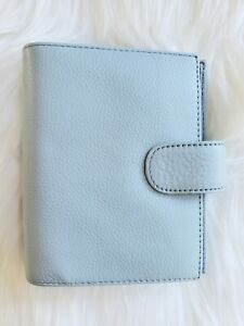 Baby Blue Planner A7 Pocket Ring Binder Agenda Leather Organizer Notebook Wallet