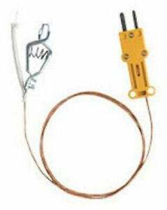 Fieldpiece Ataf1 High Temperature K type Thermocouple With Alligator Clip