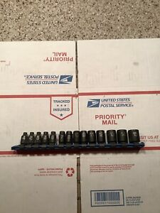 Matco Tools Adv 14pc 1 4 Drive 6 Point Metric Impact Socket Set Sapm146v