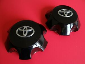 2 Toyota 4runner 2010 2018 Black Center Wheel Cap Oem Genuine