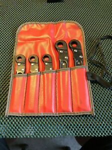 Ratcheting Flare Nut Wrench Set 5 In Pouch Made In The Usa